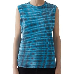 AGOLDE Futura Tie-Dyed Muscle Tee Knit Tank Top